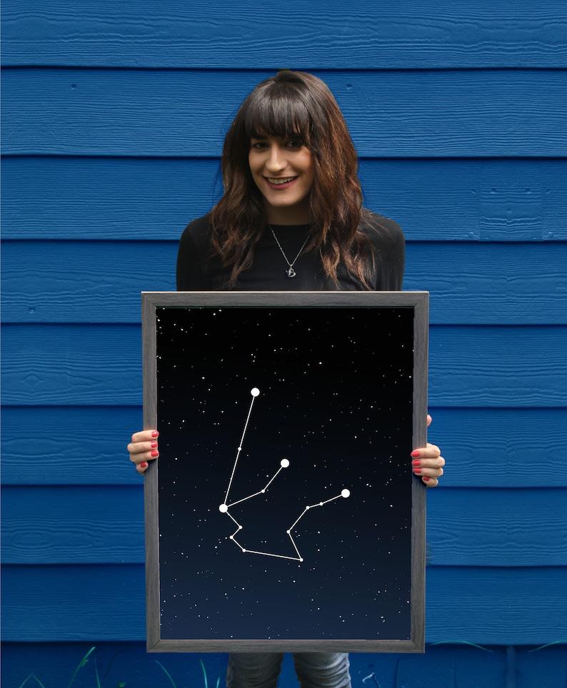 Aquarius Constellation // Astrology Poster // Zodiac Sign // image 0