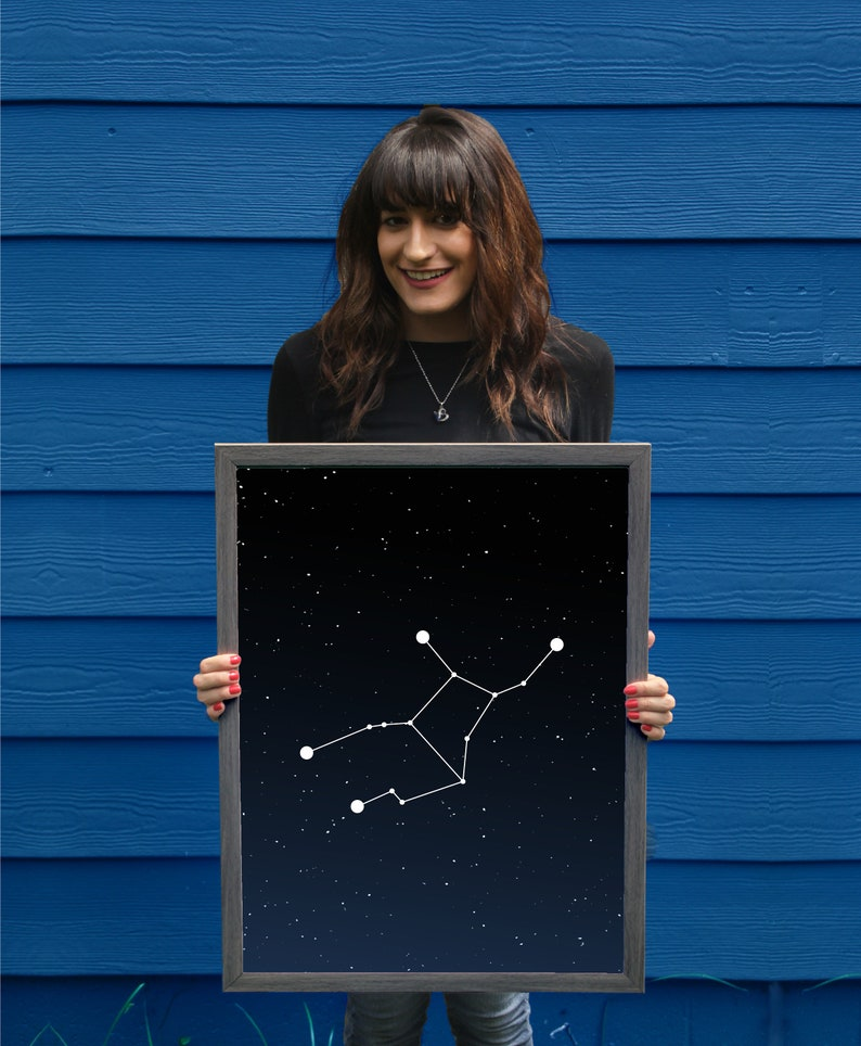 Virgo Constellation // Astrology Poster // Zodiac Sign // image 0