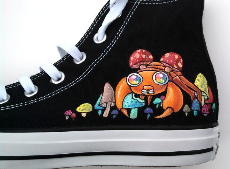 d3a5103f33a113 Hand Painted Converse Custom Sneakers Psychedelic Mushroom and