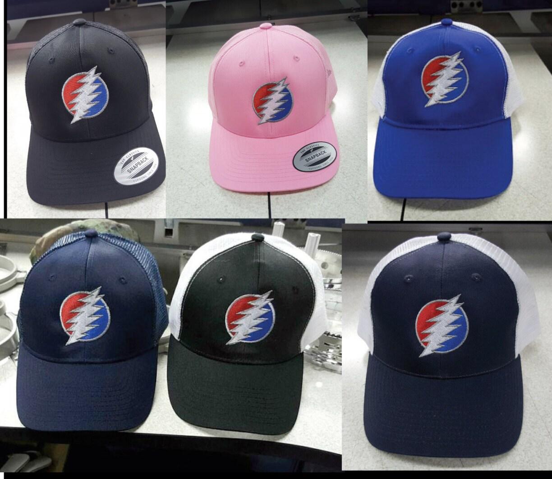 Grateful Dead Trucker Hat: D&C Baseball Trucker Caps