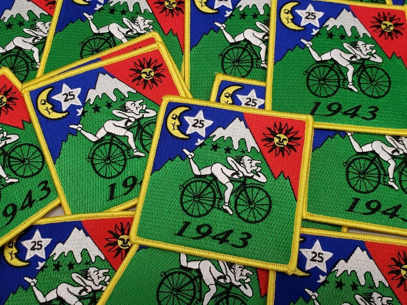 Bicycle Day Trip 1943 Albert Hofmann Embroidered Patch Excellent Quality LSD