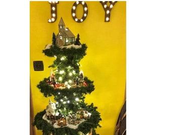 christmas village display tree plans
