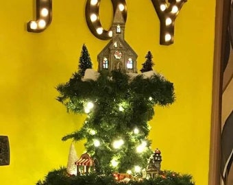 Christmas Village Display Tree - Plans