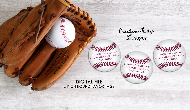 Printable Baseball Party Favor Tags or Labels Baseball