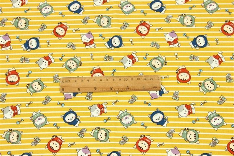 Width:43110cm Original Design Kawaii Animals Cartoon Cats Dogs Cotton Fabric