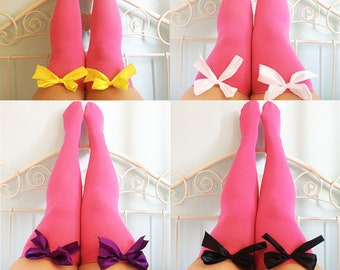 315885814 Ava Pin-Up Hot Pink Thigh High Stockings - Choose Colour Bows - Lingerie -  Socks - Pinup - Kawaii - Soft - Sexy - Erotic - Gift - Present