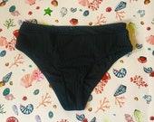 Ray Shells Black Ribbed Bikini Briefs
