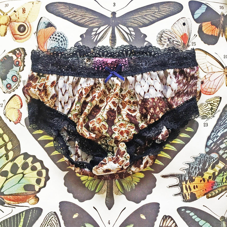 Sheer Beautiful Dark Creatures Collection Lingerie Transparent SALE Set of Four Belinda Snakeskin Knickers Soft See Through