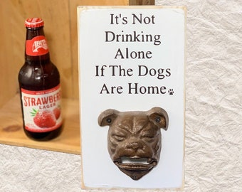 ENGLISH BULL DOG  Cast Iron Wall Mount Beer Beverage Bottle Opener da Verzamelingen Kurkentrekkers, flesopeners PIT