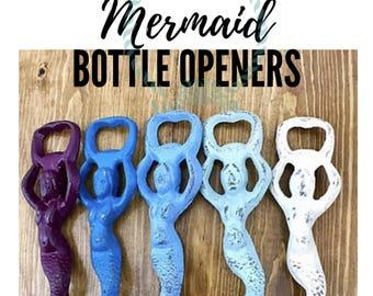 Mermaid Decor l Cast Iron Mermaid Bottle Opener l Nautical Beach Decor l Mermaid Gifts l Beer Bottle Opener