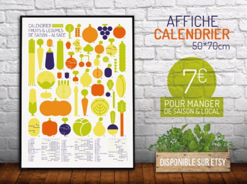 b04ab107b0c Affiche Calendrier Fruits   Légumes de Saison