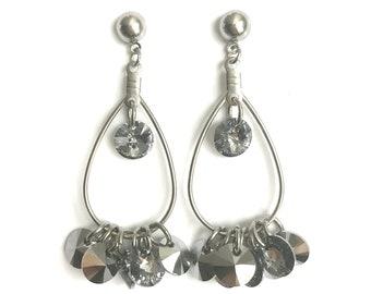 Stainless Steel Swarovski Crystal Earrings