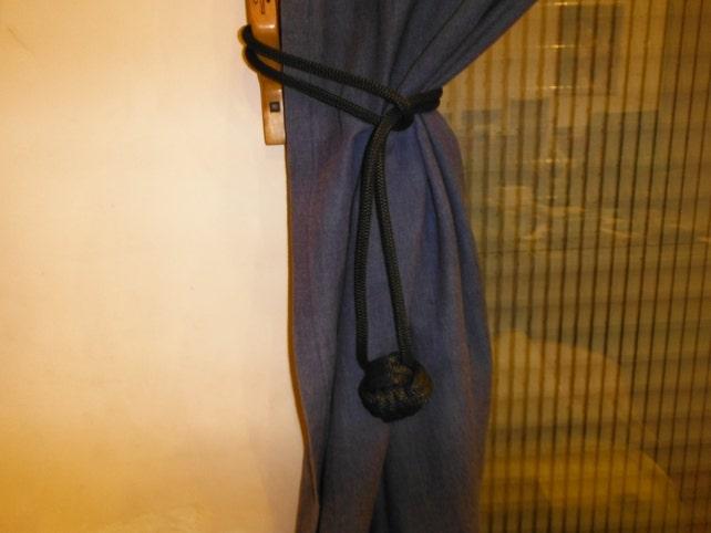 Cuerda de amarre posterior cortina decorativa lazos con nudos   Etsy