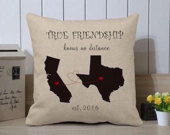 Custom map pillow etsy gumiabroncs Choice Image