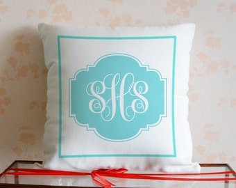 Monogram pillow cover,personalized pillowcase,Custom Initial cushion case,Decorative Pillows,Personalized Gift,Monogram Gift#4693