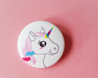 Badge My kawaii unicorn Gift for her Children Girl Accessorie Cute