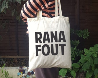 """Totebag Ranafout (rien à foutre) """"I don't give a shit"""" in French christmas gift shopping bag gift for him for her by decartonetdetoiles"""