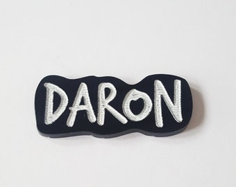 Brooch Daron (french jargon for father) lasercut dad Father's Day Pins Gift for him by decartonetdetoiles