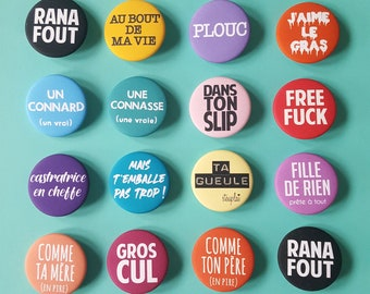 badges french message for him for her by decartonetdetoiles