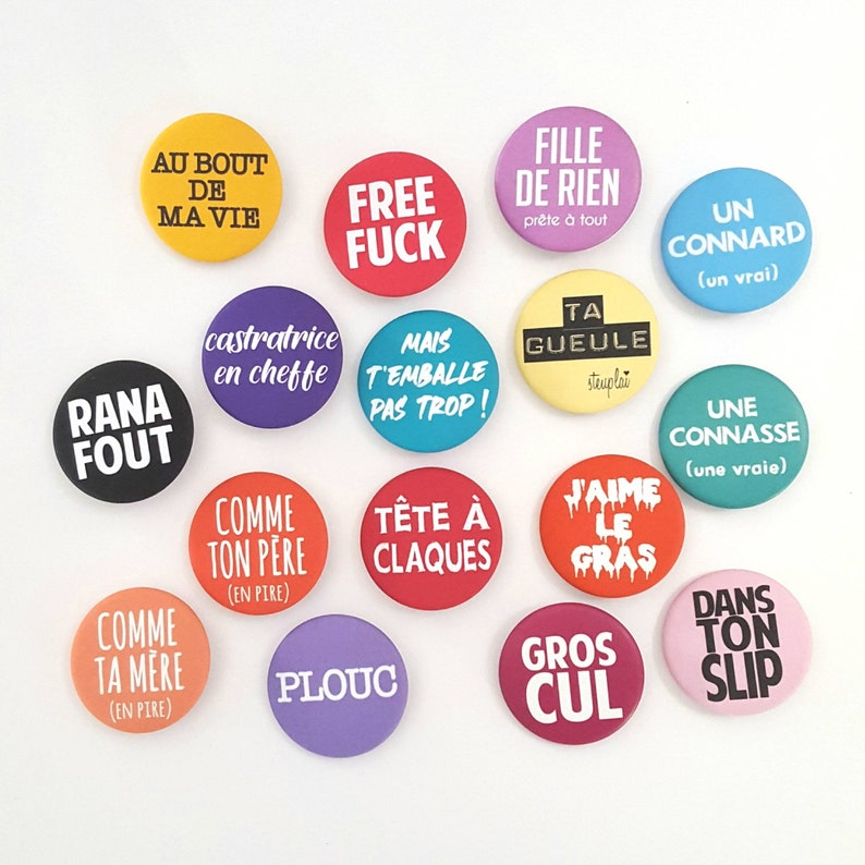 badges french message for him for her by decartonetdetoiles image 0