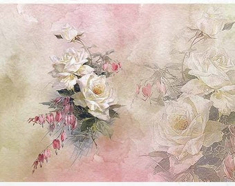 Rice paper flower etsy rice paper for decoupage r1389 mightylinksfo