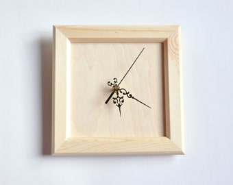 Unfinished Wooden Clock - Clock-face for DIY projects