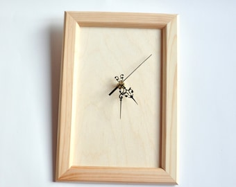 Clock-face for DIY projects. Unfinished Wooden Clock