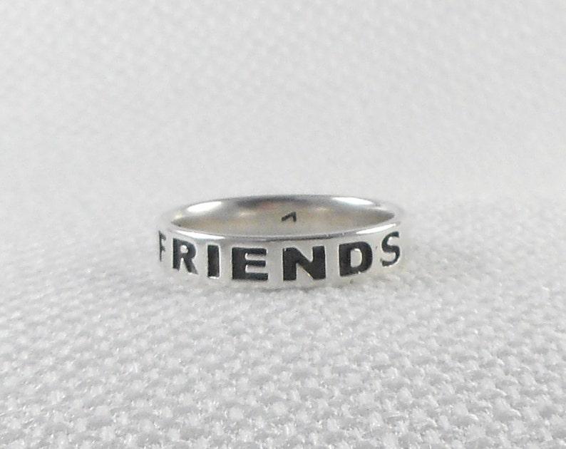 bea2aa62c30e Vintage Plata amigos para siempre banda anillo amistad anillo