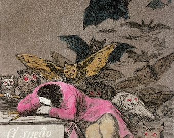 FRANCISCO GOYA  BEWITCHED MAN ROMANTISM GICLEE PRINT FINE  CANVAS