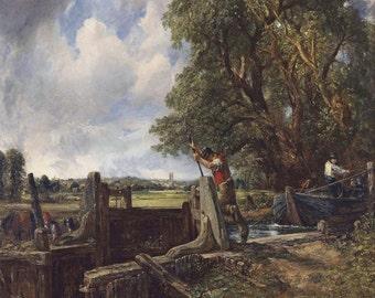 John Constable: The Lock. Fine Art Print/Poster (00905)