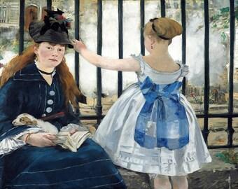 Edouard Manet: The Railway (Le Chemin de fer). Fine Art Print/Poster. (004088)