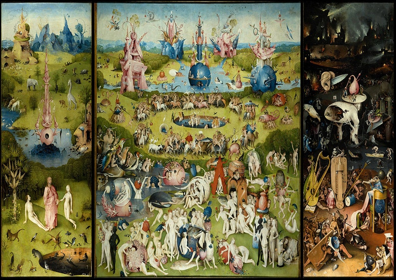 dd4a24722bb Hieronymus Bosch  The Garden of Earthly Delights. Fine Art