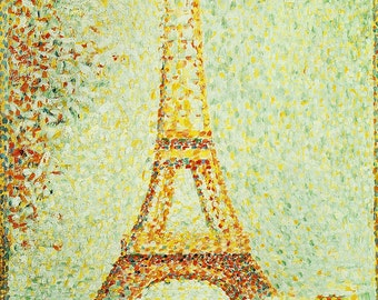 Georges Pierre Seurat: The Eiffel Tower. Fine Art Print/Poster. (003213)