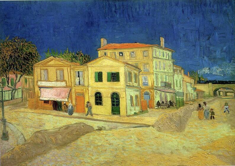 Vincent Van Gogh : La Rue La Maison Jaune. Fine Art   Etsy