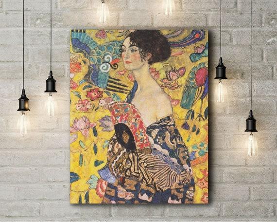 Nieuw Canvas Art Print van Gustav Klimt: Lady with a Fan Detail. | Etsy LA-02