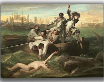 John Singleton Copley: Watson and the Shark. Fine Art Canvas. (04087)