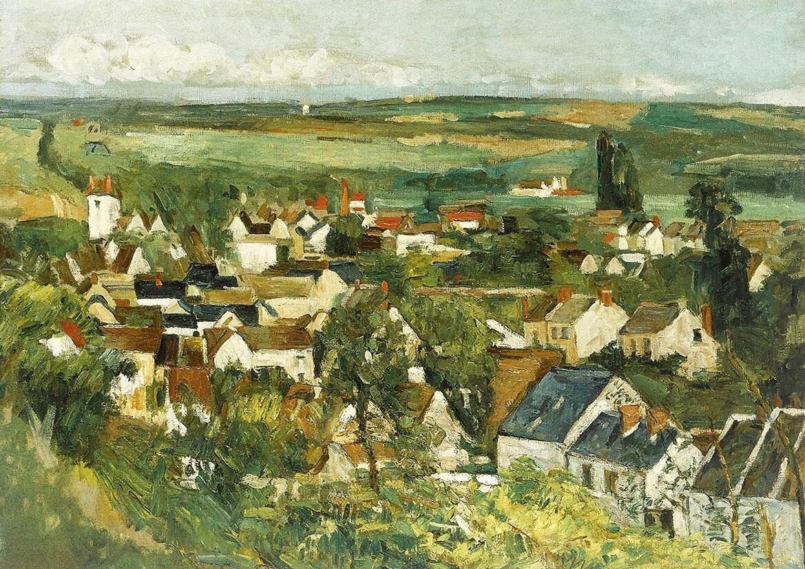 Paul Cézanne: Vista panorámica de Auvers-sur-Oise. Fino arte | Etsy