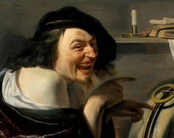 Johannes Moreelse: Democritus. Fine Art Print/Poster (004628)