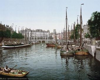 Rotterdam - De Haven, 1900. Print/Poster (4869)