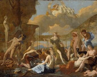 Nicolas Poussin: The Empire of Flora. Fine Art Print/Poster (004727)