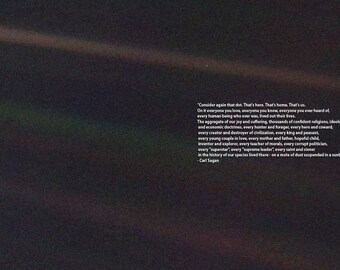 Carl Sagan Pale Blue Dot Quote. Space Print/Poster.