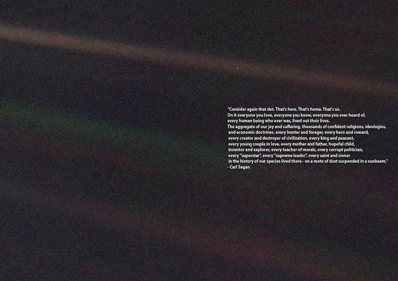 Carl Sagan Pale Blue Dot Quote. Space Print/Poster. image 0