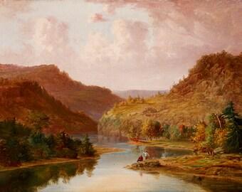 Jacob Cox: Landscape with Stream. Fine Art Print (5074)