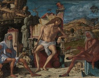 Vittore Carpaccio: The Meditation on the Passion. Fine Art Print/Poster (00225)