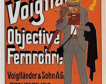 Voigtlander Camera Vintage Advertising. Fine Art Print/Poster. (4891)