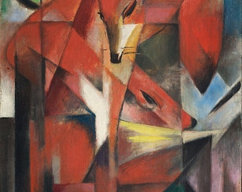Franz Marc: Foxes. Fine Art Print/Poster (00548)