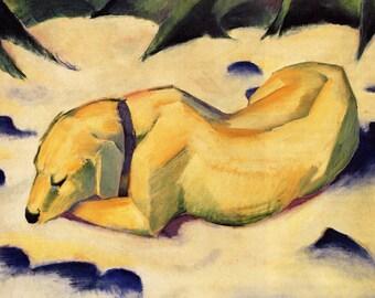 Franz Marc: White Dog. Fine Art Print/Poster (00699)