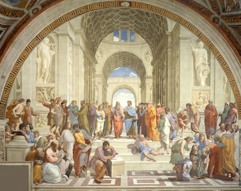 Raphael: The School of Athens. Fine Art Print/Poster (00244)