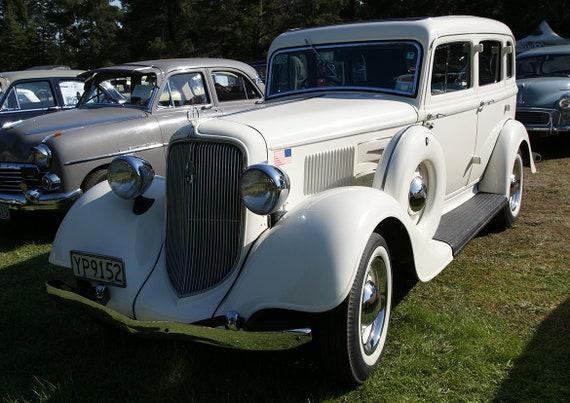 1934 Plymouth Delux Sedán Vintage Coche Impresión Cartel (5296)