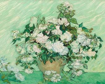 Vincent van Gogh: Roses. Fine Art Print/Poster. (003557)